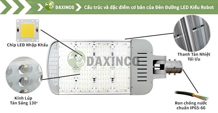Đèn đường led 230W-250W- 260W Daxinco kiểu robot Daxin200-15