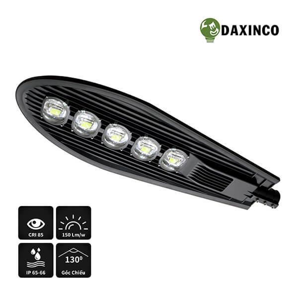 Đèn đường led 250W chiếc lá Daxinco-cv