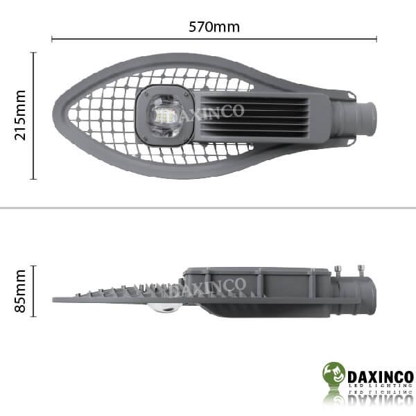 Kích thước đèn đường led 50W Daxinco kiểu lưới Daxin50-7