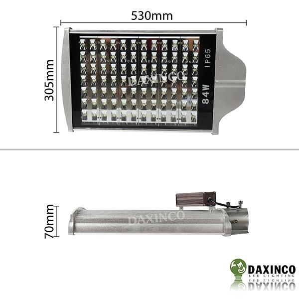 Kích thước đèn đường led 84W Daxinco nhiều hạt led nhỏ Daxin84-14