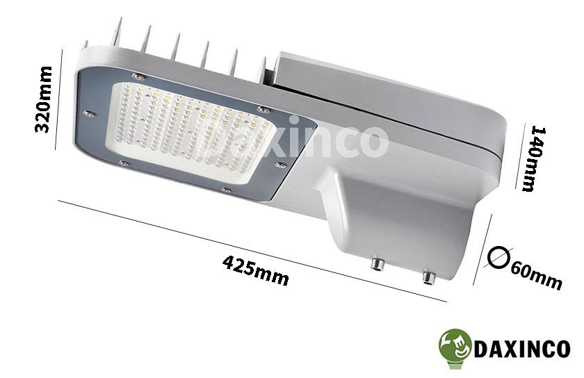 Kích thước đèn đường led 120w Daxinco kiểu Philips Daxin120-PL