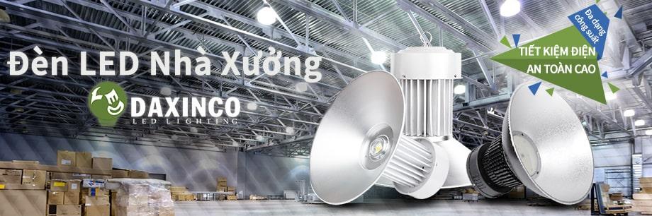 Đèn led nhà xưởng Daxinco - đèn led cho nhà xưởng - Banner