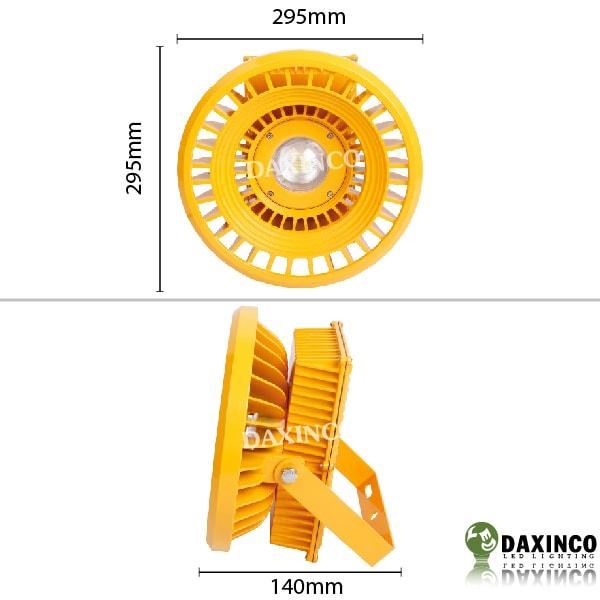 Kích thước Đèn led nhà xưởng chống cháy nổ 100W Daxinco Daxin100-16