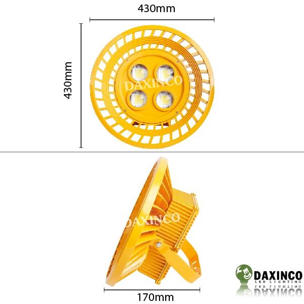 Kích thước Đèn led chống cháy nổ 200W Daxinco Daxin200-16