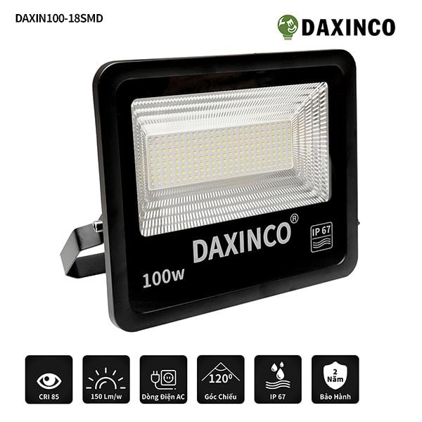 Đèn pha led 100W SMD chiến sỹ Daxinco100-18 -1