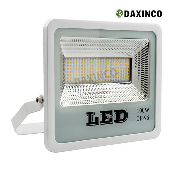 Đèn pha led 100w SMD vỏ trắng