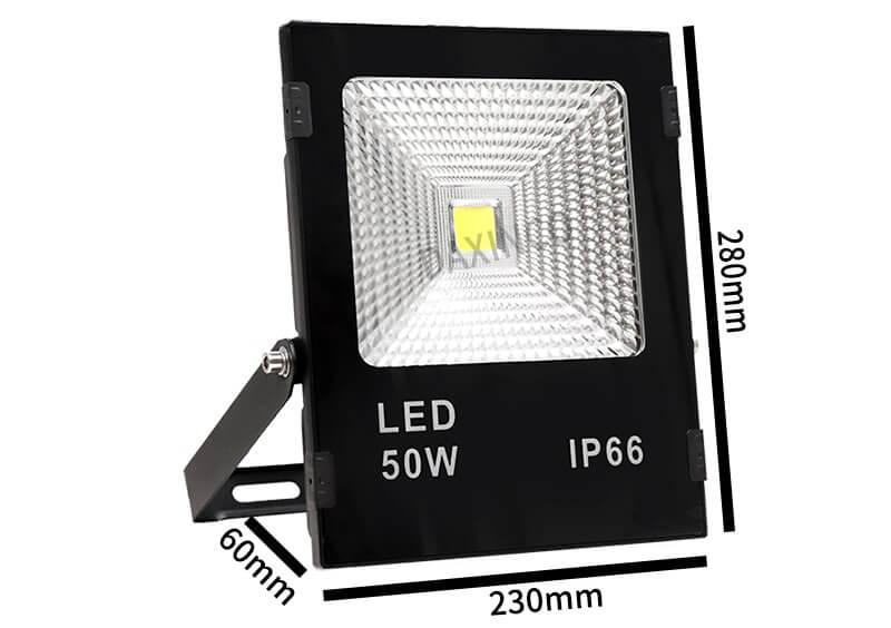Kích thước đèn led 50W 12-24vdc