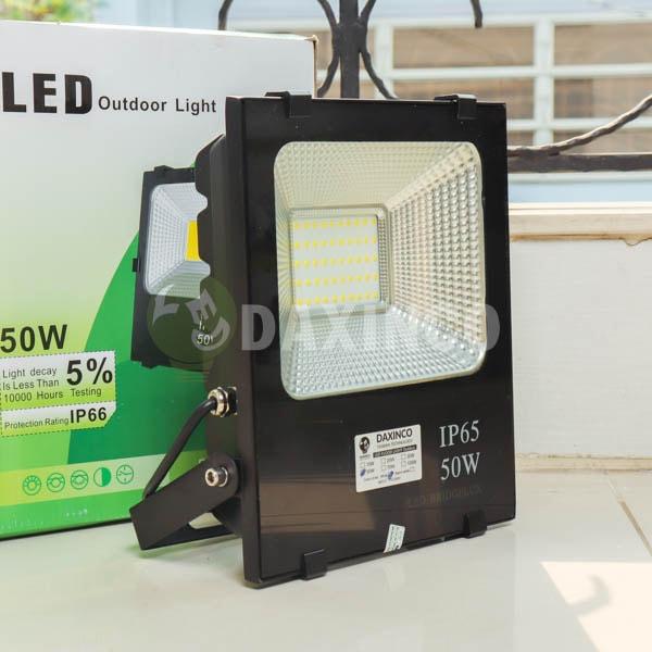 [Hình thật tế] Đèn pha LED 50W hạt led vàng -1