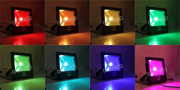 Đèn pha led đổi màu - RGB Daxinco