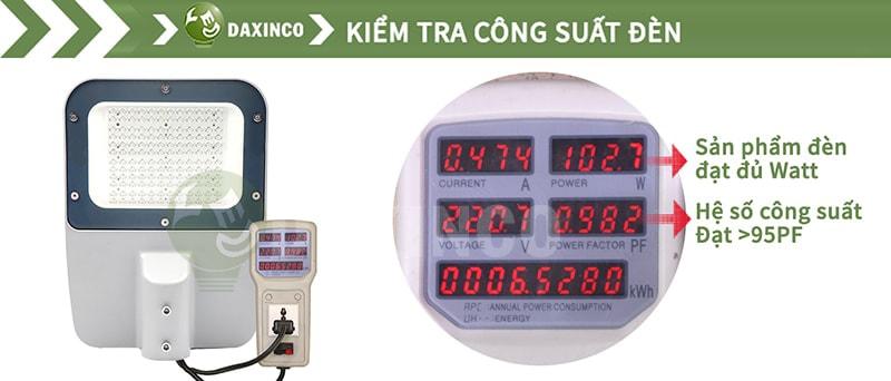 Kiểm tra công suất đèn đường led 100w Philips