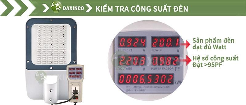 Kiểm tra công suất đèn đường led 200w Philips