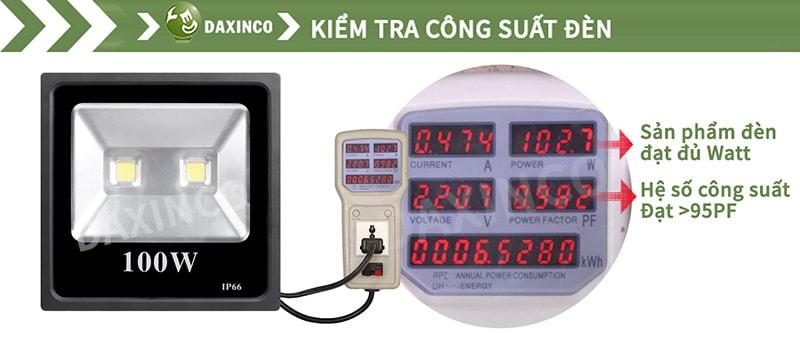 Kiểm Tra công suất đèn pha led 200W-2 dẹp