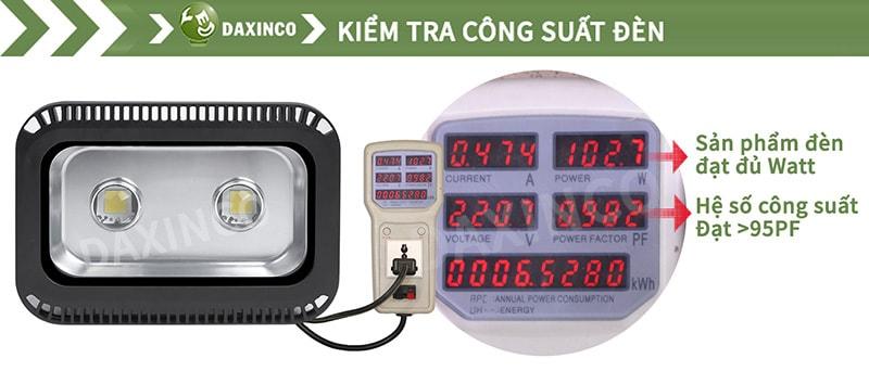 Kiểm Tra công suất đèn pha led 100W cho sân tennis
