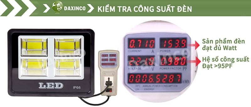 Kiểm tra công suất đèn pha led 150w COB chiến sỹ