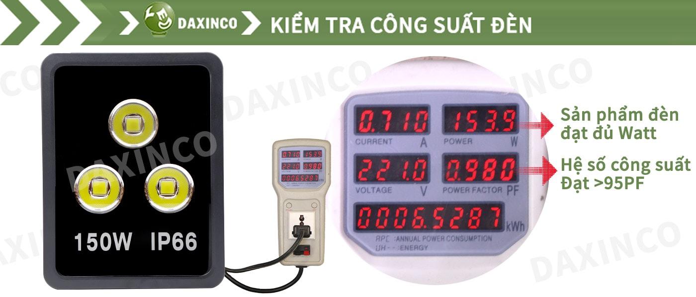 Kiểm Tra công suất đèn pha led 150W chiếu xa