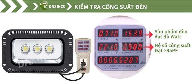 Kiểm Tra công suất đèn pha led 150W cho sân tennis