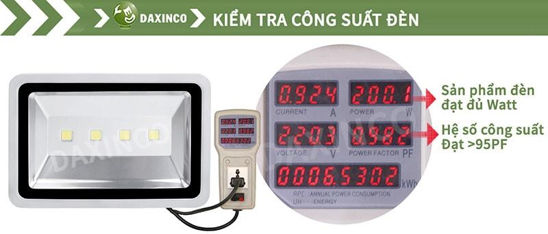 Kiểm Tra công suất đèn pha led 200W-1