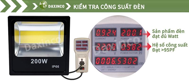 Kiểm Tra công suất đèn pha led 200W Full
