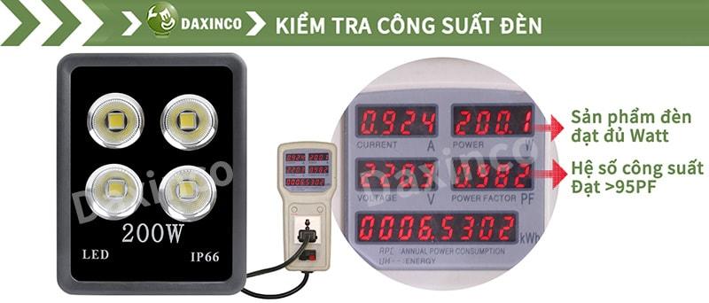Kiểm Tra công suất đèn pha led 200W chiếu xa