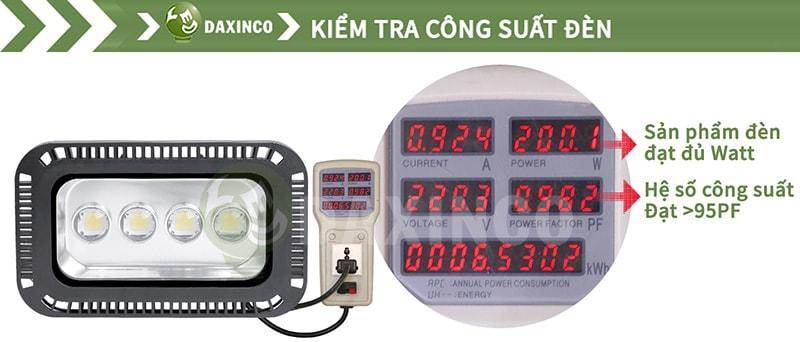 Kiểm Tra công suất đèn pha led 200W cho sân tennis