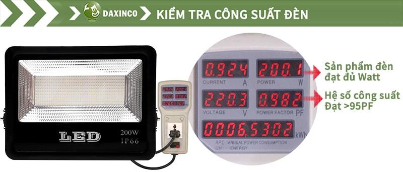 Kiểm tra công suất đèn pha led 200w SMD chiến sỹ