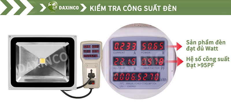 Kiểm Tra công suất đèn pha led 50W-1