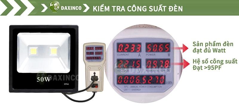 Kiểm Tra công suất đèn pha led 50W-2 dẹp
