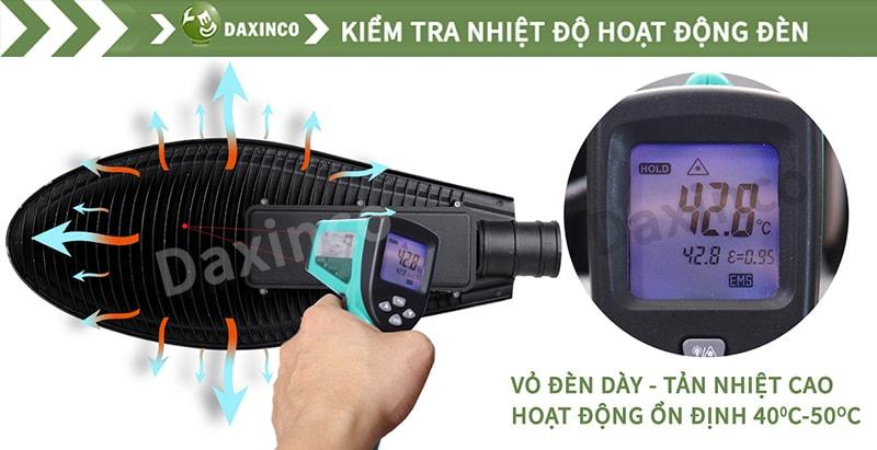 Kiểm tra nhiệt độ đèn đường led chiếc lá Daxinco