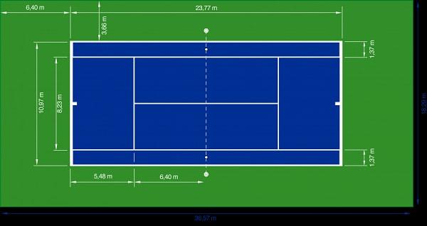 Sân tennis thi đấu chuyên nghiệp phải đảm độ rọi trung bình trên 700LX