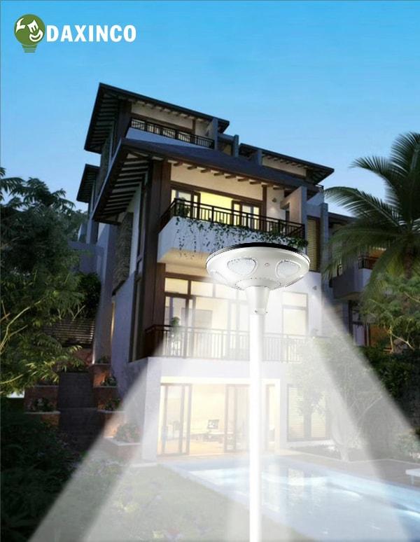 Ứng dụng đèn led năng lượng mặt trời 40W tại khu Villa