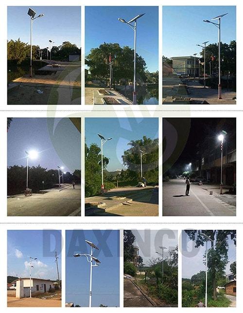 Ứng dụng đèn đường led năng lượng mặt trời 60W Daxinco