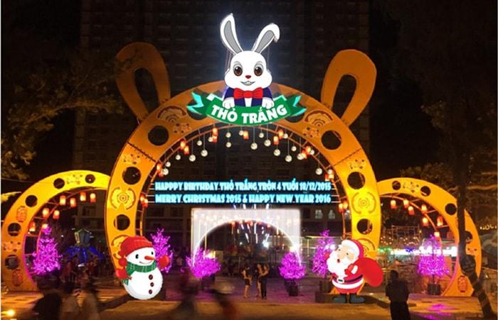 Cung cấp hệ thống chiếu sáng cho khu vui chơi công viên Thỏ Trắng