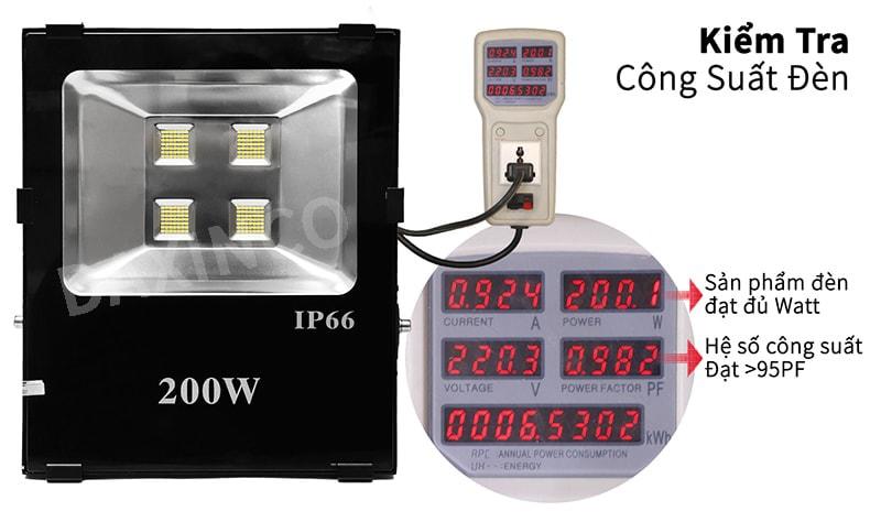 Kiểm tra công suất đèn Philips 200W Daxinco