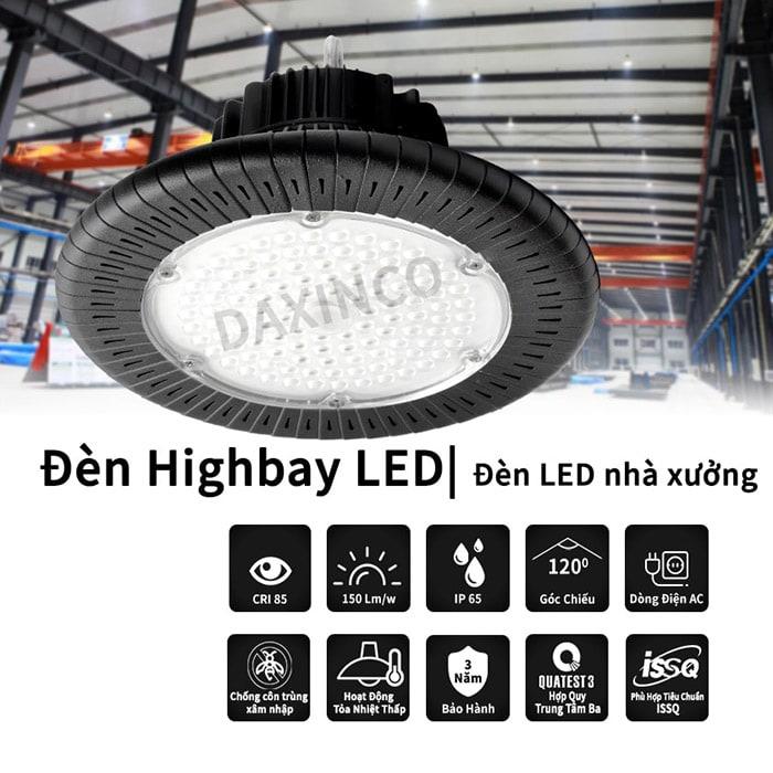 Chất lượng đèn led highbay 100W Daxinco