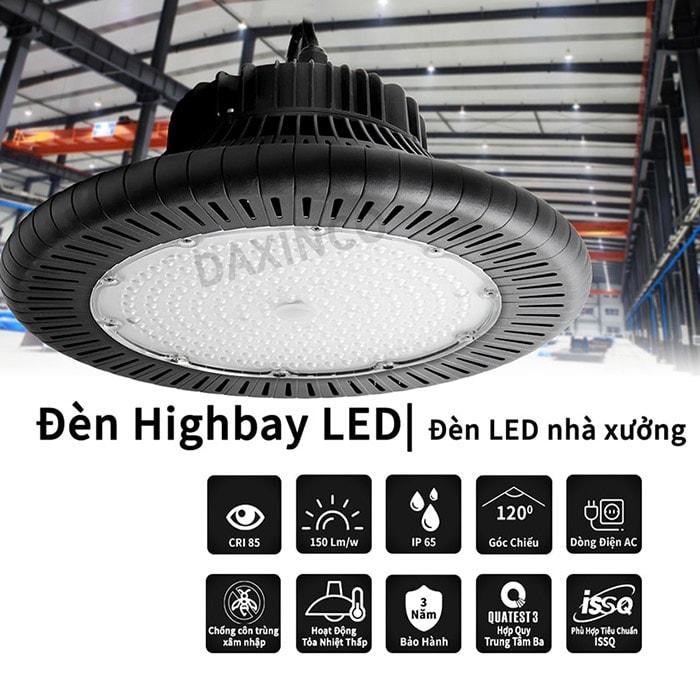 Đánh giá chất lượng đèn led highbay Daxinco