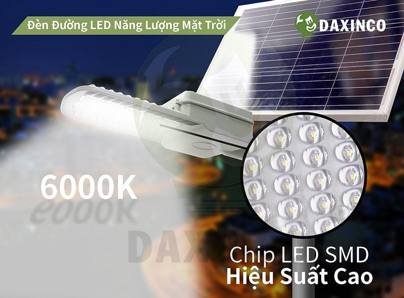 Đèn đường led năng lượng mặt trời 100W ánh sáng trắng