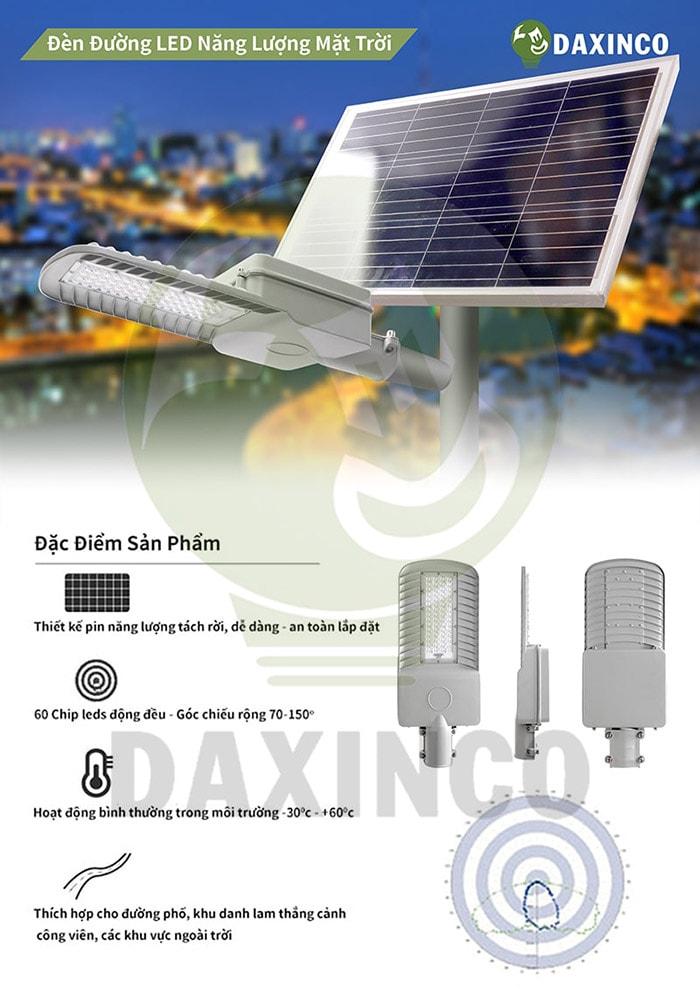 Đèn đường led năng lượng mặt trời 100W Daxinco