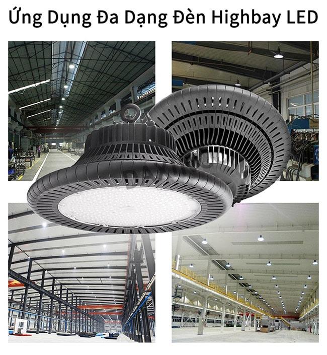 Ứng dụng phong phú với đèn highbay 200w Daxinco