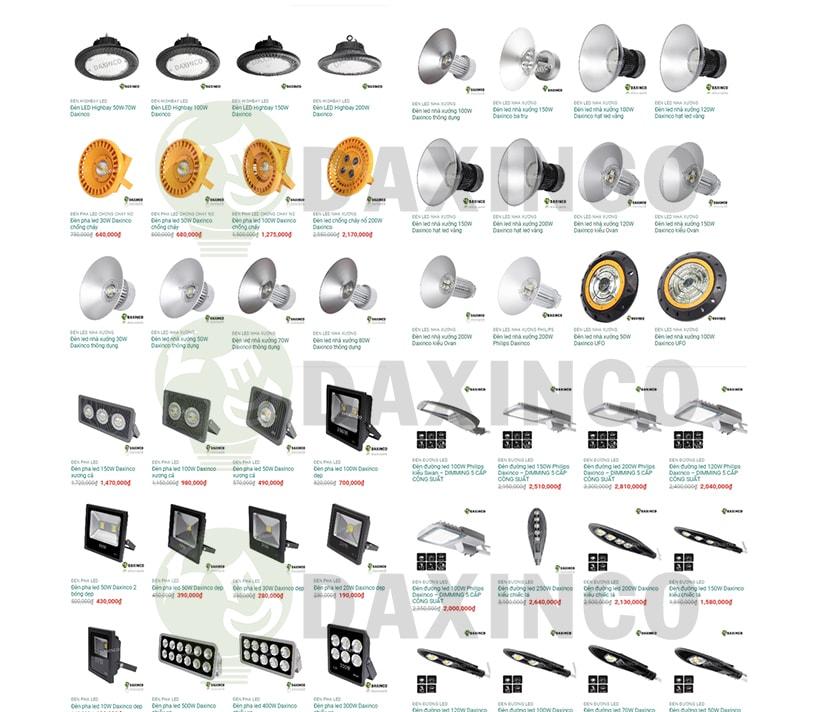 Daxinco- Công ty sản xuất đèn LED nhà xưởng tại HCM uy tín