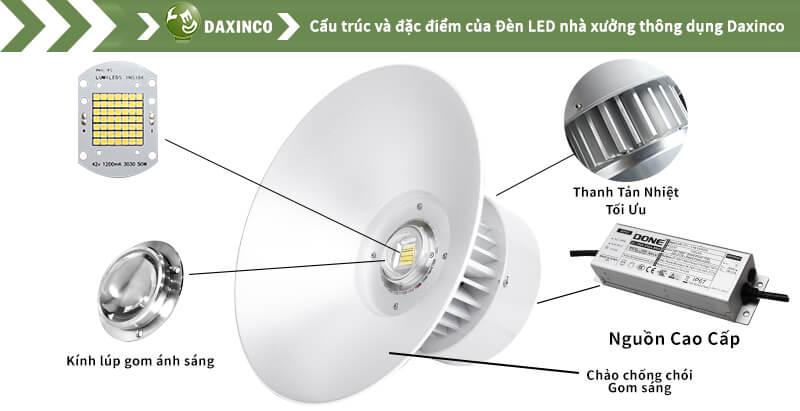 Đèn led nhà xưởng 40W- 50W chip led Philips - Daxin50-11PL