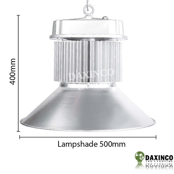 Kích thước đèn led nhà xưởng 80W Philips Daxinco