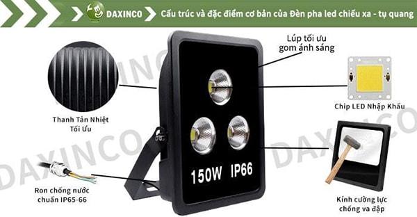 Đèn pha led 150W Daxinco chiếu xa