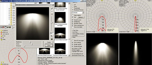 Tìm dữ liệu IES Cho biết các thông tin liên quan đến bộ đèn