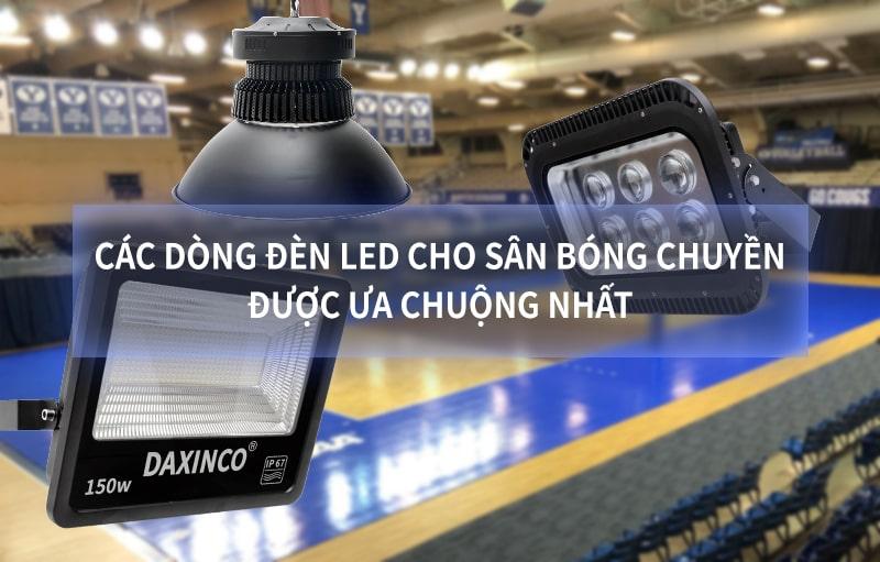 Dòng đèn pha led cho sân bóng chuyền