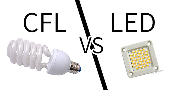 CFL so sanh với LED
