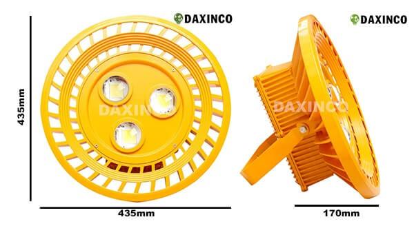 Kích thước Đèn led chống cháy nổ 150W-16 Daxinco