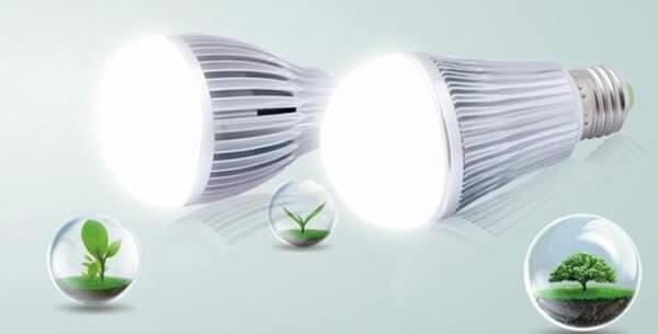 Đèn led – không thải ra môi trường CO2, tia cực tím có hại cho môi trường và con người