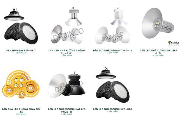 Các sản phẩm đèn led nhà xưởng