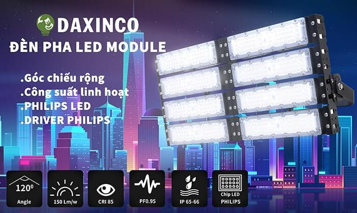Đèn pha led module 400w-Daxinco-sp