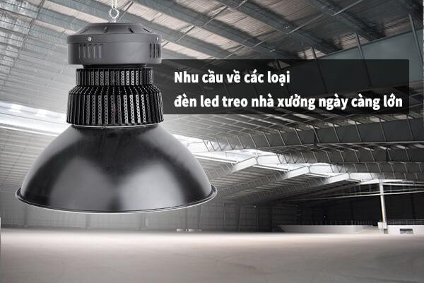 Nhu cầu về các loại đèn led treo nhà xưởng ở khu vực TPHCM ngày càng lớn